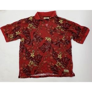 TOMMY BAHAMA Red Floral Shirt - Large